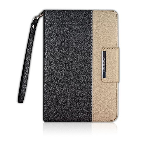 Thankscase LA8021IM4-BG Tablet-Schutzhülle, Apple iPad Mini, schwarz/goldfarben, Stück: 1 (Mini Fall Ipad Für Rotierenden)
