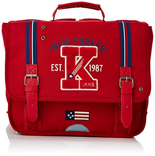 IKKS Cartable American College Trolley, 35 cm, (Rouge)