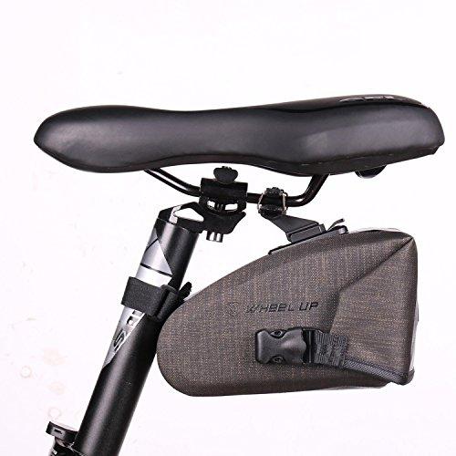 Asvert Bolsa de Sillín Bicicleta MTB 840D Nilón+TPU Membrana Totalmente Impermeable de Ciclismo al Aire Libre