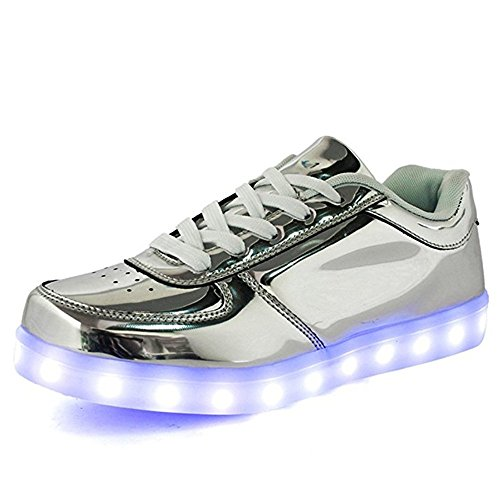 LeKuni Unisex LED Schuhe 2017 Verbesserung Blinkende Leuchtende Low Top Light Up...