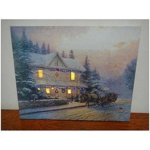 XYXY Panorama di fibra luce di murales Natale casa salotti decorativa LED . 30*40
