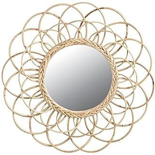 Aubry Gaspard Spiegel Blume aus Rattan Ø 54cm