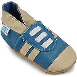 Zapatillas Niño Niña - Zapatos Bebe Niña Niño - Patucos Primeros Pasos - Deportivas Azul - 12-18 Meses