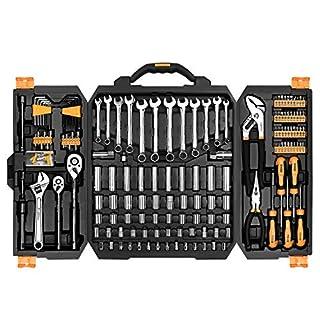 DEKO 192 Stück Mixed Tool Kit Mechanik Repair Tool Set, Auto Repair Handwerkzeug Set Schraubenschlüssel Set mit Kunststoff Toolbox Aufbewahrungskoffer