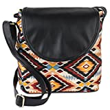 Lychee Bags Women's Multi color Canvas Sling Bag