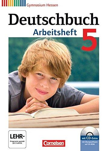 Preisvergleich Produktbild Deutschbuch Gymnasium - Hessen G8/G9: 5. Schuljahr - Arbeitsheft mit Lösungen und Übungs-CD-ROM