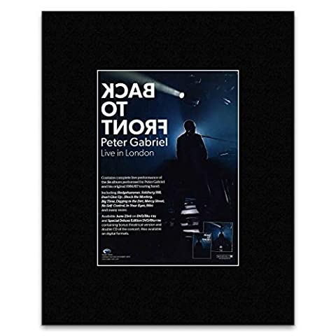 Peter Gabriel – Back To Front Tour 2014 mattierte Mini Poster – 28 x 21 cm
