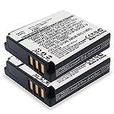 Cellonic 2X Batteria Premium Compatibile con Ricoh GR Digital Ricoh GX200 R5 R4 R3 GR Digital I R30 R40 G600, DB-60 DB-65 1150mAh Batterie Ricambio, accu Sostituzione