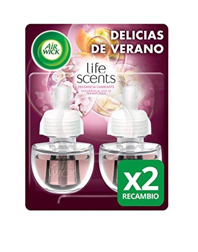 Air Wick Ambientador Eléctrico Recambio Duplo Delicias de Verano, 2 x 19...