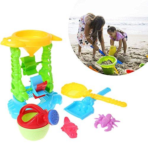 JAGENIE 6Pcs Strand Sand Tools Spade Set für Kleinkind Kinder Kinder Spielen Spielzeug Outdoor GeschenkWeihnachten Neujahr Geschenk, 1 Stück, zufällige Lieferung