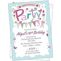 Diseño de mariposas para niños/niños, personalizable invitaciones para fiesta de cumpleaños, diseño de pájaro diseño de cualquier edad puede ser añadido (código: Bk 026)