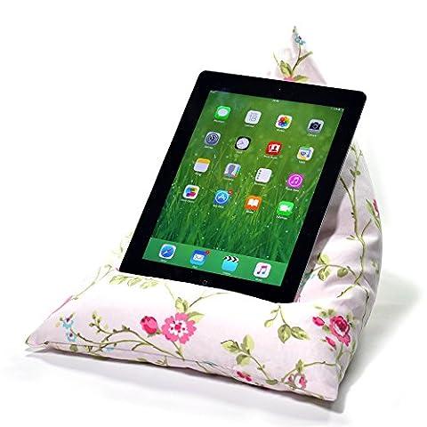 eBean tablette–Coussin Pouf support porte Lap adapté pour tous les iPad tablettes et lecteurs de eBook Birds & Butterflies