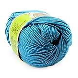 Baby Yarn Skein Worsted Natural Silk Wool Fiber 50G Woolen Smooth Knitting Super Soft
