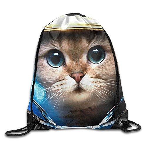 Have You Shop Unisex Space Galaxy Cat Print Drawstring Backpack Rucksack Shoulder Bags Gym Bag Sport Bag (Bag Big Sports Cat)