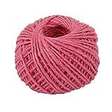Drawihi DIY Bastelschnur Jute Seil Gartenschnur Hanf Seil für Crafts Arts und Gardening Dekoration (Rosa) 50m*2mm