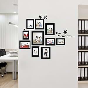 Adesivi da parete adesivo sticker albero uccelli vine for Arredo casa amazon