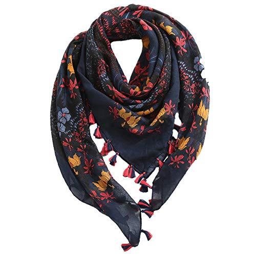 ls Frauen Neue Herbst klassische Leopard Druck Twill Quaste Mode Frauen Schal Winter Schal ()