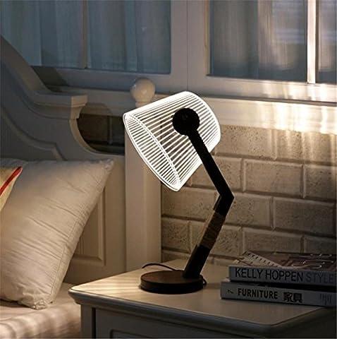 Lampe D'illusion 3D Lumière De Nuit Creative Led Dimmer Control