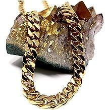 22300c733868 Collar de cadena de eslabones cubanos de oro de 14 quilates para hombre