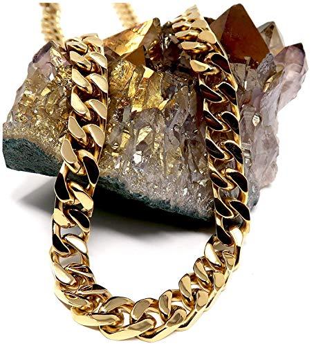 Lifetime Bling - Basismetall, vergoldet mit 14 kt (14k Seil-hand-kette Gold)