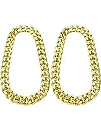 fe60156dd6060 2 Piezas de Cadena de Hip Hop Dorado 32 Pulgadas de Cadena Chunky para  Hombres