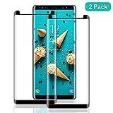 SNUNGPHIR 2 Pezzi Pellicola Protettiva per Samsung Galaxy Note 8 Anti-Graffi Pellicola Proteggi Vetro Curvo Temperato per Samsung Galaxy Note 8 Senza Bolle d'Aria 3D Touch Durezza 9H HD Trasparenza