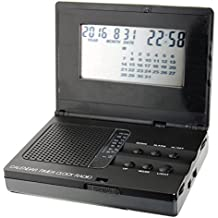 Radio Reloj Despertador de viaje Dial DRR-9602 - Radio analógica (12 x 8,5 x 3 cm)