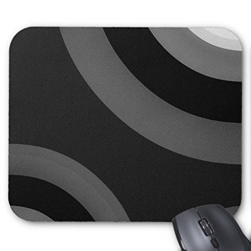 Gaming Mouse Pad Nero Bianco Retro Pattern Rettangolo Ufficio Mouse 22,9x 17,8cm