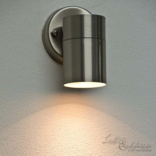 Wandleuchte Edelstahl inkl. Fernbedienung LED Farbwechsel RGB Wandstrahler Fassadenstrahler