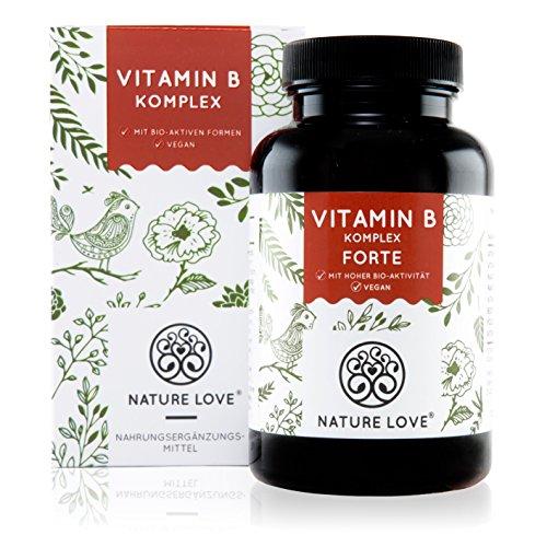Vitamin B Komplex Forte Kapseln - 180 Stück im 6 Monatsvorrat. Bis zu 10-fach höher dosiert als andere Vitamin B Komplexe. Einführungspreis. Premium: mit bio-aktiven Vitamin B Formen (aktiviertes B12, B9, B7, B6, B2). Dadurch sehr hohe Bioverfügbarkeit. (Phosphat-frei)