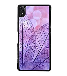Purple Leaves 2D Hard Polycarbonate Designer Back Case Cover for Sony Xperia Z3 :: Sony Xperia Z3 Dual :: Sony Xperia Z3 D6633