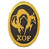 2AFTER1 Metal Gear Solid XOF Skull Face PS PS4 Xbox Cosplay Embroidered Hook-And-Loop Patch