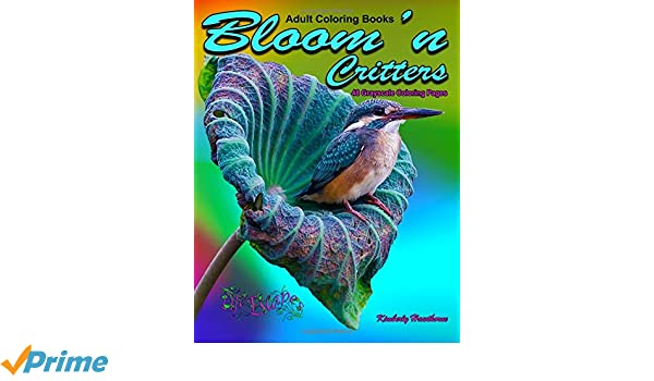 Adult Coloring Books Bloom\'n Critters 48 Grayscale Coloring Pages ...