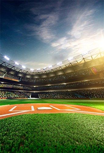 l Foto Hintergrund Baseball Grand Arena Stadion Fotografie Hintergrund für Fotoshooting Portraitfotos Party Kinder Hochzeit Fotostudio Requisiten ()