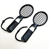 DYTesa 2pcs/Set Tennis Racket for Switch Joy-Con Controller Left and Right Handle for M Ario Tennis Aces Game,Black