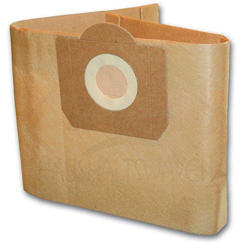 5 Staubsaugerbeutel geeignet für Einhell Duo 1250 INOX 1250/1 Inox 1450 WA Inox AS 1400
