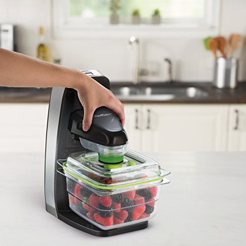 51yt%2BlDDy2L. SS500  - FoodSaver Fresh Food Vacuum Sealer System with Food Storage Container and 5 Storage Bags, FFS010