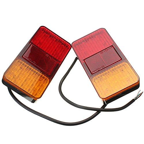 Preisvergleich Produktbild AUDEW 12V LED Rückleuchte Rücklicht 40LED Heckleuchte Stopp Anzeige Licht Truck
