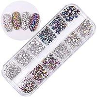 Pure Vie 1440 piezas 3D Nail Glitter Pedrería para Uñas Decoración de Arte de Uñas Diamantes
