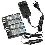 DSTE 2-pack Rechange Batterie et DC93E Voyage Chargeur pour Pentax D-LI90 K-01 K-3 K-3II K-5 K-52K-5II K-5IIs K-7 K-7D645D 645Z