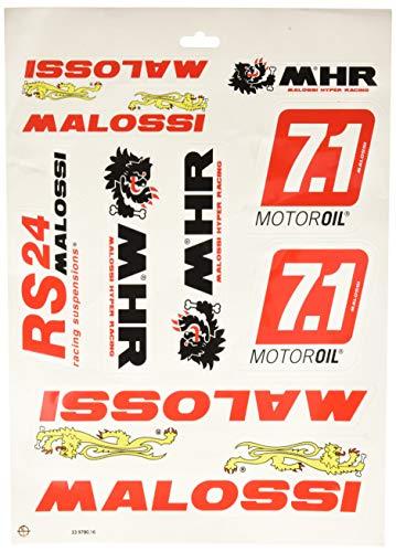 Lati Chiusi Manopole Bianche col logo Malossi Tribale