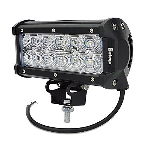 safego 36W Cree LED de voiture Camions tout-terrain 4x 4Tracteur ATV Jeep SUV brouillard conduite LED Flood faisceau 12V 24V