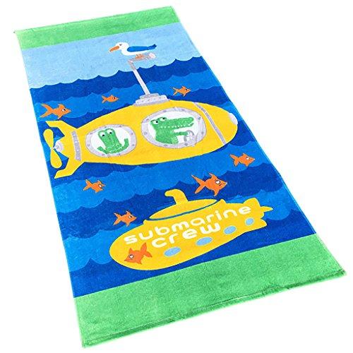 Niñas Niños Toalla de Playa - Toalla de Baño 100% Algodón Toalla Deportiva Manta de Dibujos Animados Natación Surf Senderismo Viajar