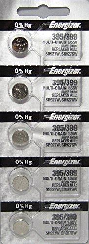 Energizer 395/399 Silber-Oxid 5 Batterien (SR927W / SR927SW)