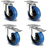 Homdox Roulettes Pivotantes avec Frein Lot de 4 Roulettes