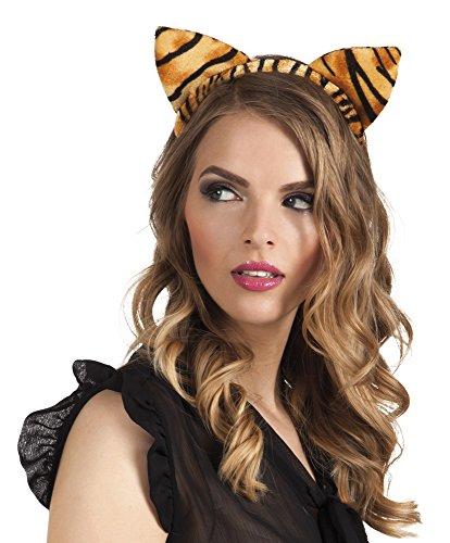 Zebra Leopard Haarreif Kostüm 3er Set, Hellbraun (Katze Fisch Kostüm)
