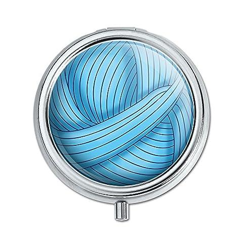 Blau Garn Ball Crochet Pille Fall Schmuckkästchen Geschenk-Box