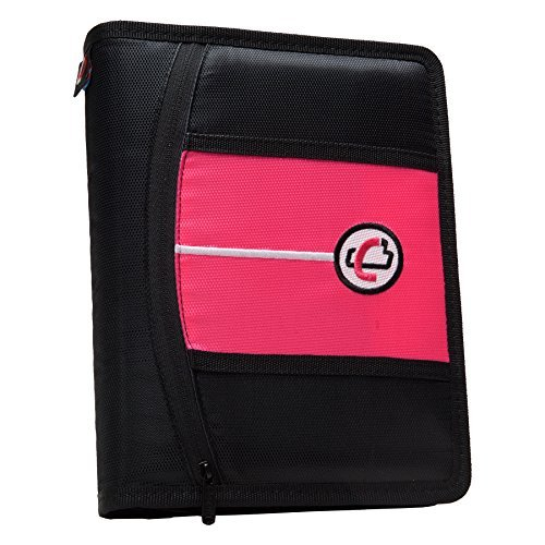 case-it-mini-tab-3-ring-binder-with-1-inch-capacity-neon-pink-mbf-711-neo-pnk-by-case-it