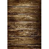 AOFOTO 5x7ft Old Wooden Plank Photography Studio Background Grunge Shabby Wood Board Backdrops Weathered Worn Hardwood Floor Artistic Portrait Nostalgic Vintage Photo Shoot Studio Props Video Drape