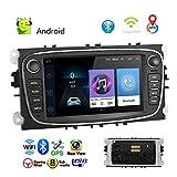 XZZTX Navigazione GPS per Auto Android 8.1 per Focus II/Mondeo/S-Max/C-Ma/Galaxy II, autoradio 7 Pollici Supporto Lettore MP5 WiFi Bluetooth FM Radio Dual System Mirror Link